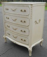 Louis Style Painted Serpentine Front Chest of Drawers